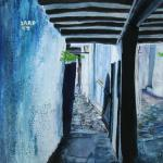 Down the Alleyway : Mixed Media - Acrylics : 29cm x 29cm